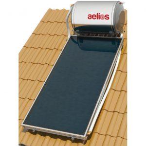 Επιλεκτικού ΣυλλεκτηNobelAelios 160lt/2.0m² Glass CUS Επιλεκτικός Διπλής Ενέργειας Κεραμοσκεπής